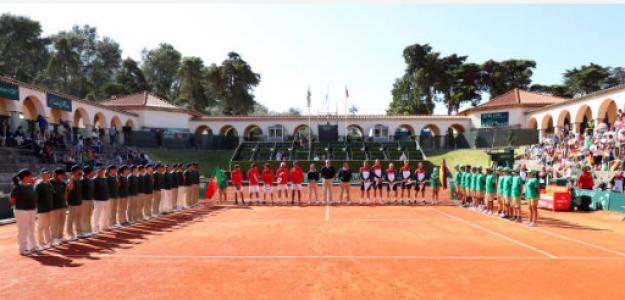 El famoso Centralito durante una eliminatoria de Copa Davis. Fuente: Getty