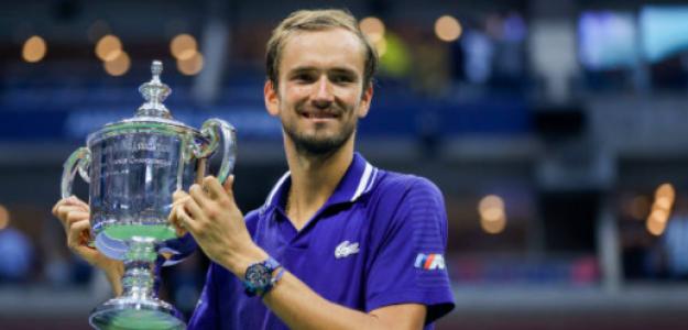 Daniil Medvedev, con el título de campeón en Nueva York. Fuente: Getty