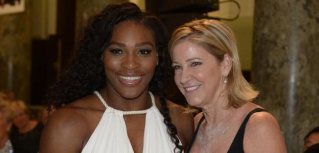 Serena Williams y Chris Evert. Foto: USA Today