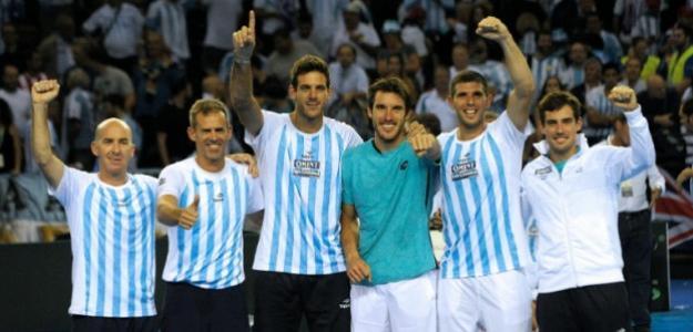 El equipo argentino de Copa Davis, listo para la final