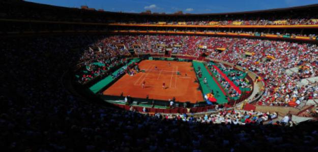 Semifinales de Copa Davis ante Francia en la Plaza de Toros de Córdoba. Fuente: Getty