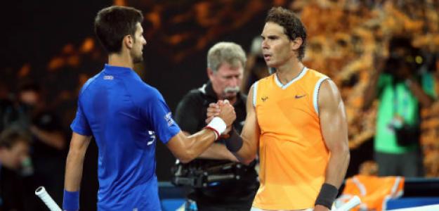 Novak Djokovic y Rafael Nadal luchando por el número 1. Foto: gettyimages