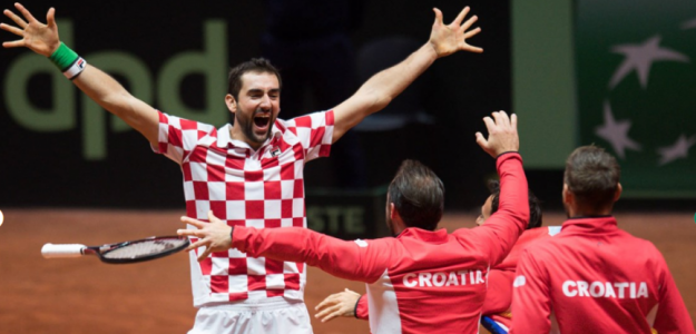 El equipo croata celebra el título de Copa Davis 2018. Foto: zimbio