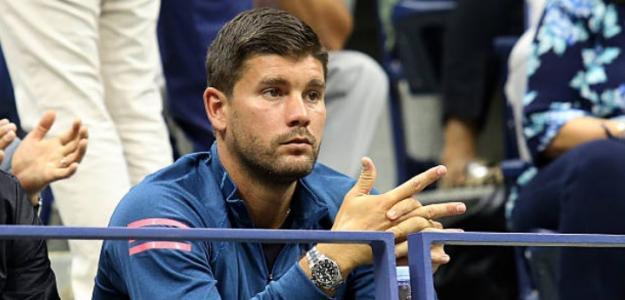 Daniel Vallverdu observando a Grigor Dimitrov. Foto: Getty Images