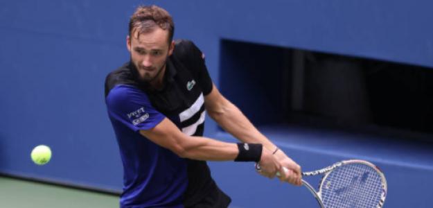 Daniil Medvedev gana a Andrey Rublev en US Open 2020. Foto: gettyimages