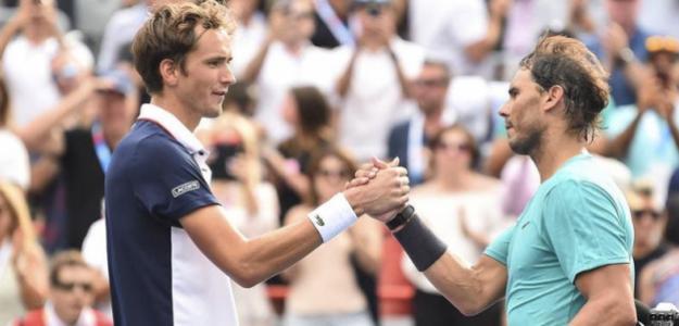 Daniil Medvedev y Rafael Nadal. Foto: Getty