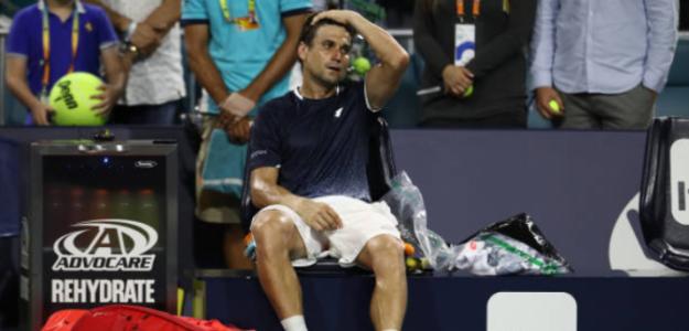 David Ferrer, cansado tras su partido ante Tiafoe. Foto: Getty