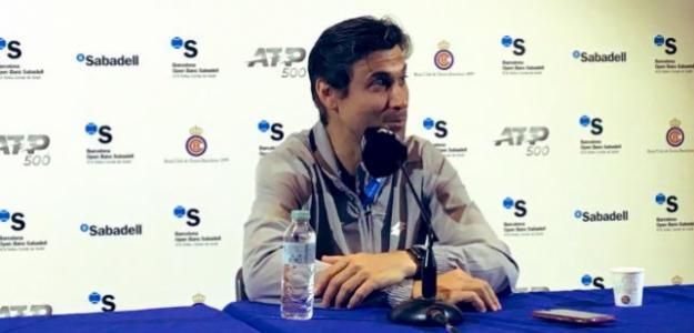 David Ferrer en su última rueda de prensa en el Godó. Fuente: Punto de Break