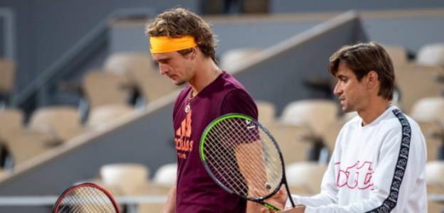 David Ferrer con Alexander Zverev. Foto: Getty Images