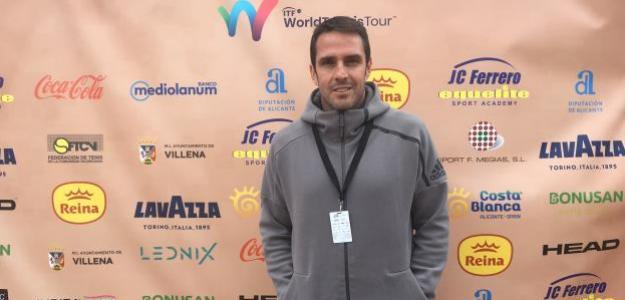 David Marrero en el Challenger de Alicante, esta temporada. Fuente: Fernando Murciego