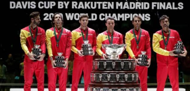Los ganadores de la Copa Davis 2019. Foto: Getty