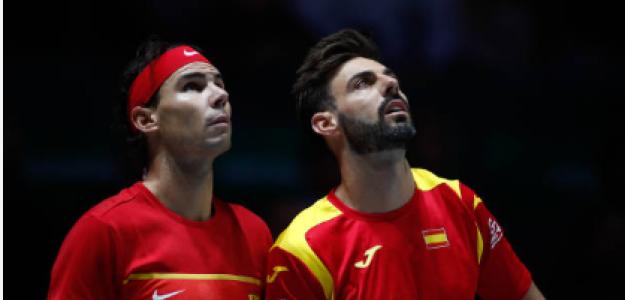Nadal y Granollers, pendientes del ojo de halcón en la pasada Copa Davis. Fuente: Getty