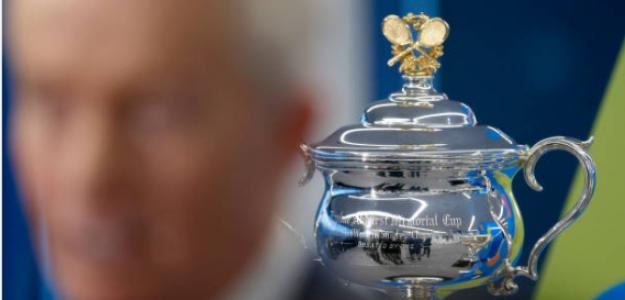 La Copa Norman Brooks, el título de campeón del próximo Open de Australia. Fuente: Getty