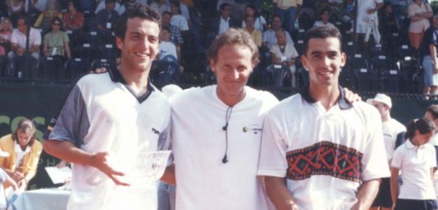 Diego Moyano y Franco Squillari, en la Copa Ericsson 1997. Foto: Diego Moyano.