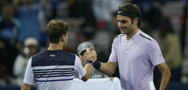 Schwartzman y Federer. Foto: Getty