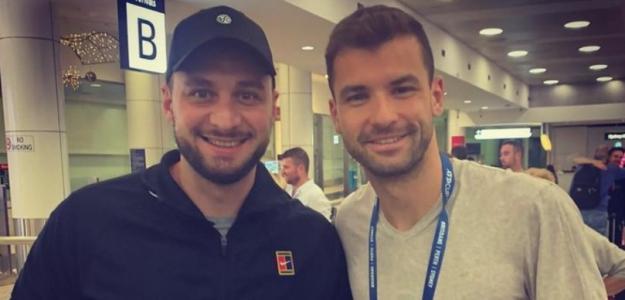 """Dimitrov: """"Ahora sé que ser entrenador es uno de los trabajos más difíciles"""". Foto: ATPCup"""
