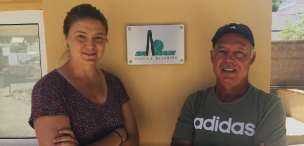 Dinara Safina y Pancho Alvariño en la Pancho Alvariño Academy. Fuente: PDB