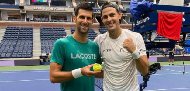Djokovic y Pospisil en Nueva York. Fuente: @vasek.pospisil (Instagram)