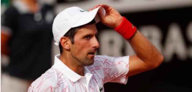 Novak Djokovic en su duelo de cuartos. Fuente: Getty