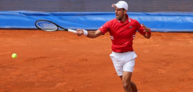Novak Djokovic gana a Fede Coria en Belgrado. Foto: gettyimages