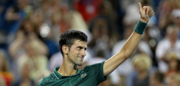 Djokovic se sobrepone a un mal inicio para superar a Mannarino. Foto: Getty
