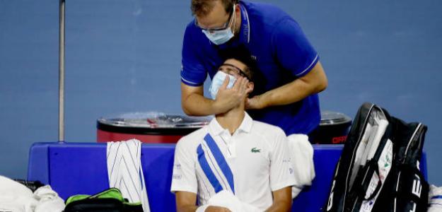 """Djokovic, sobre su cuello: """"Estoy sorprendido de lo bien que me he recuperado"""". Foto: Getty"""