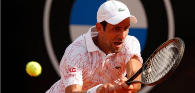 Djokovic durante el partido de hoy. Fuente: Getty
