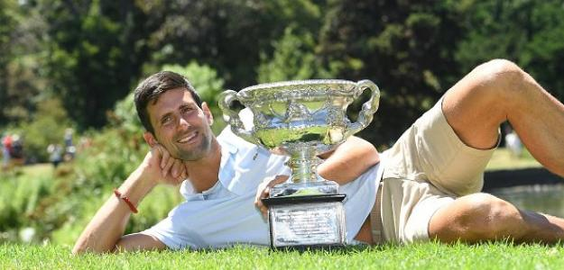 Novak Djokovic posa con Norman. Foto: Getty