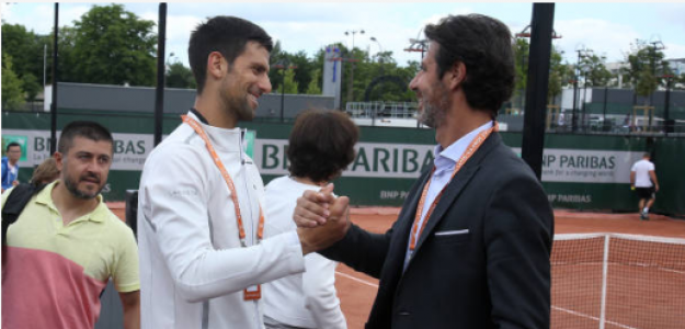 Novak Djokovic y Mouratoglou. Foto: gettyimages