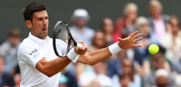 Novak Djokovic, en su partido ante Garin. Fuente: Getty