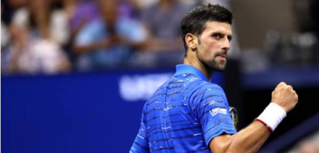 Novak Djokovic celebra un punto en su duelo ante Kudla. Fuente: Getty