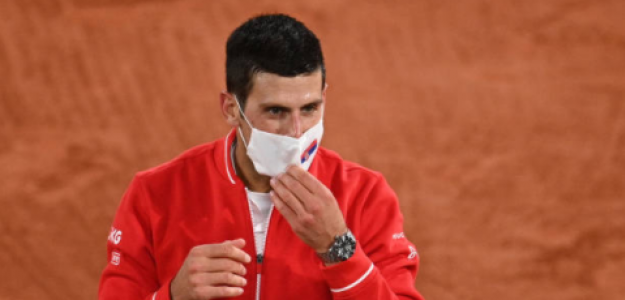 Novak Djokovic tras su victoria. Fuente: Getty