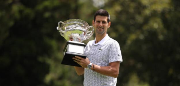 Novak Djokovic habla como campeón del Open Australia 2020. Foto: gettyimages