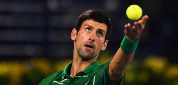 Novak Djokovic en el torneo de Dubai. Fuente: Getty