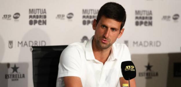 Novak Djokovic durante la rueda de prensa. Foto: Getty