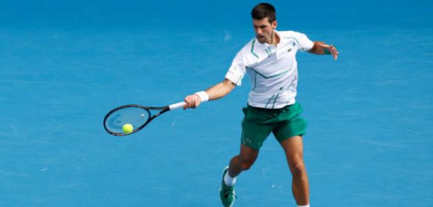 Novak Djokovic no baja el ritmo y ya está en cuartos de final. Foto: Getty
