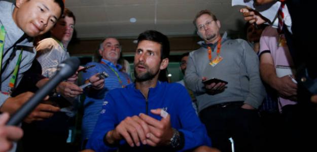 Djokovic durante el Media Day en Miami. Foto: Getty