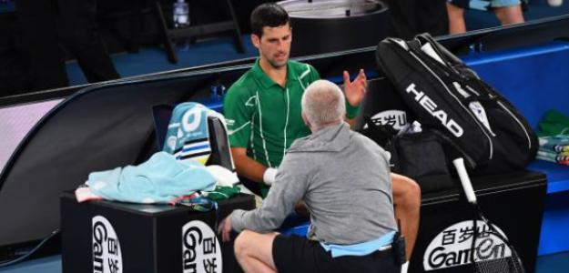 Djokovic y su MTO en la final de Australia. ¿Incumplió las normas?. Foto: Getty
