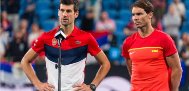Novak Djokovic domina a Rafael Nadal en pista dura. Foto: gettyimages