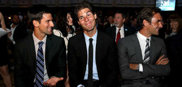 Djokovic, Nadal y Federer. Fuente: Getty