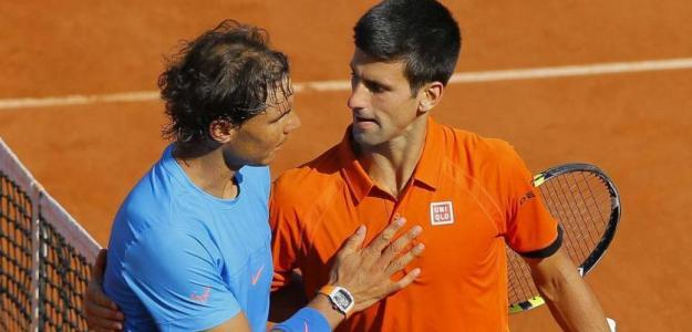 Djokovic y Nadal en Roland Garros. Foto: gettyimages