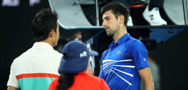 Nishikori se retiró ante Djokovic. Foto: Getty