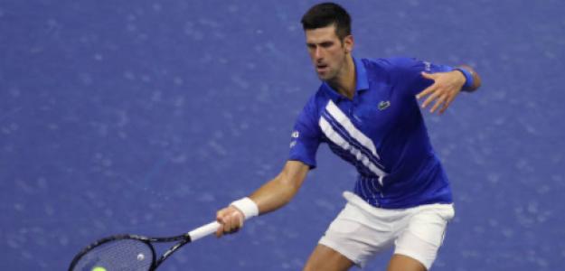 Djokovic golpea en su debut en Nueva York. Fuente: Getty