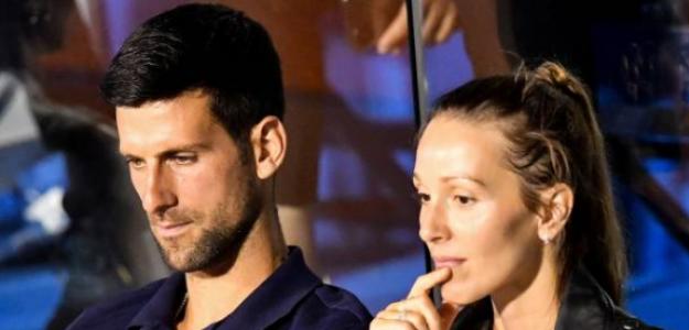 Novak y Jelena Djokovic durante el Adria Tour en Belgrado. Fuente: Getty