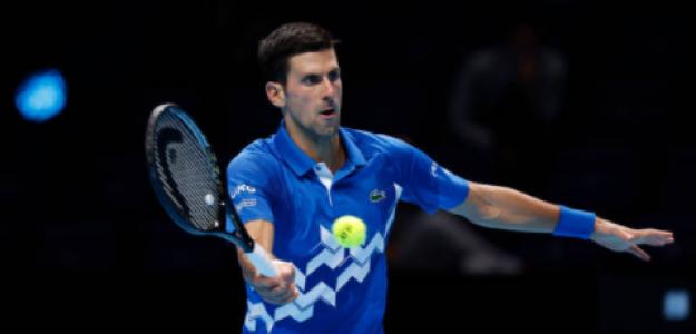 Djokovic durante su partido ante Medvedev. Fuente: Getty