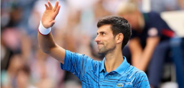 Djokovic, tras derrotar a Carballés. Fuente: Getty