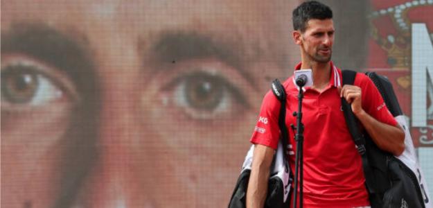 Novak Djokovic, tras ganar en Belgrado. Fuente: Getty