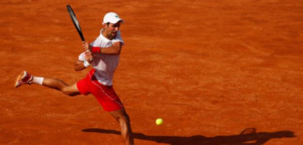 Djokovic en su partido de semifinales. Fuente: Getty