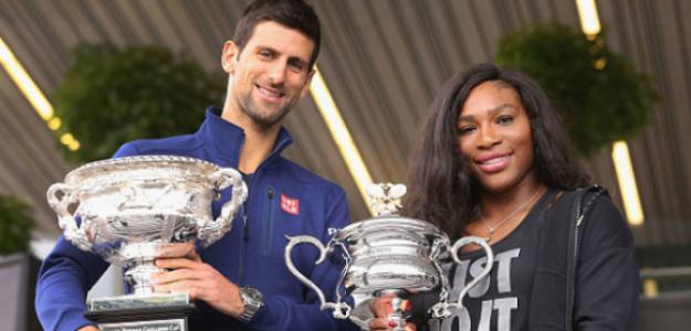 Serena y Djokovic, los mejores tenistas de la década 2010-2019. Foto: Getty
