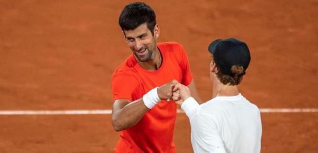 El día en que Djokovic conoció a Sinner. Foto: Eurosport